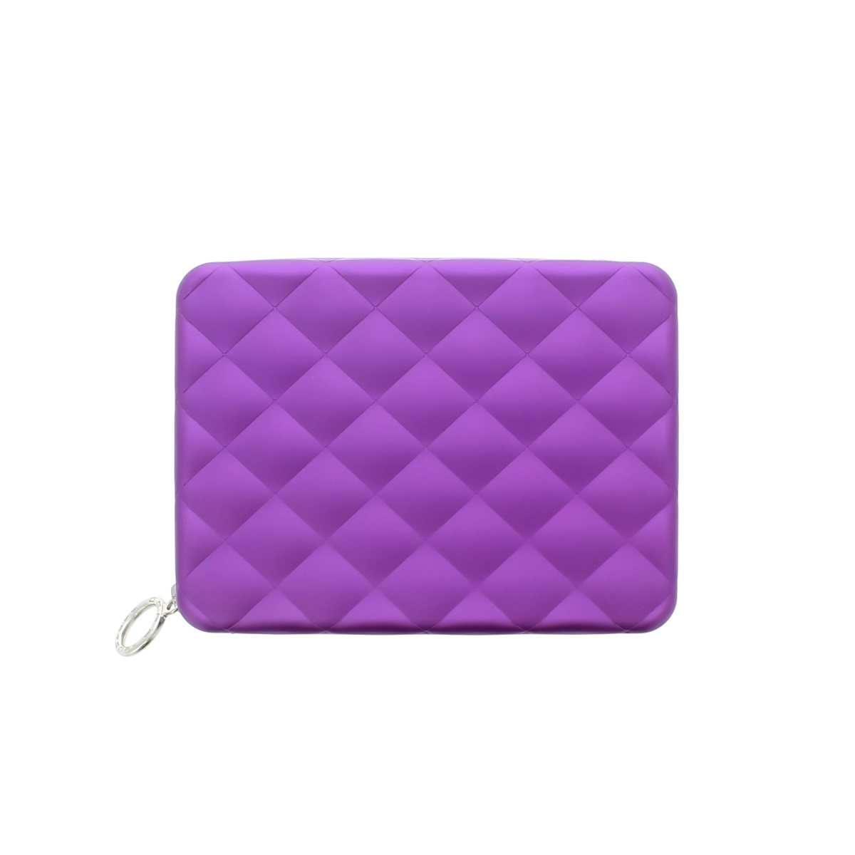 OGON Aluminum Wallet Quilted Passport - Purple